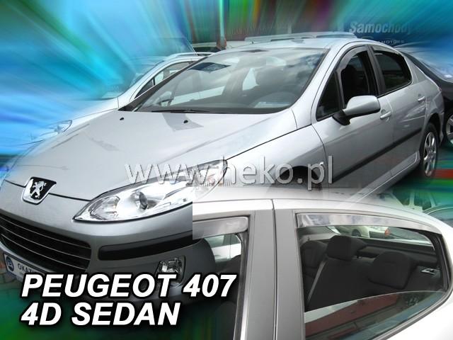 Ofuky oken Heko Peugeot 407 4D přední + zadní sedan