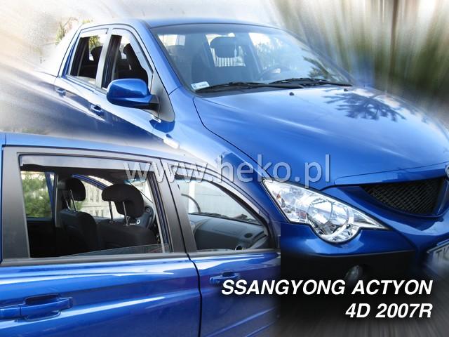 Ofuky oken Heko Ssangyong Actyon Sports 4D 2007- přední + zadní
