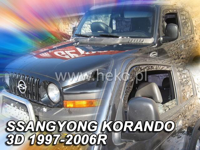 Ofuky oken Heko Ssangyong Korando 3D 1997-2006 přední