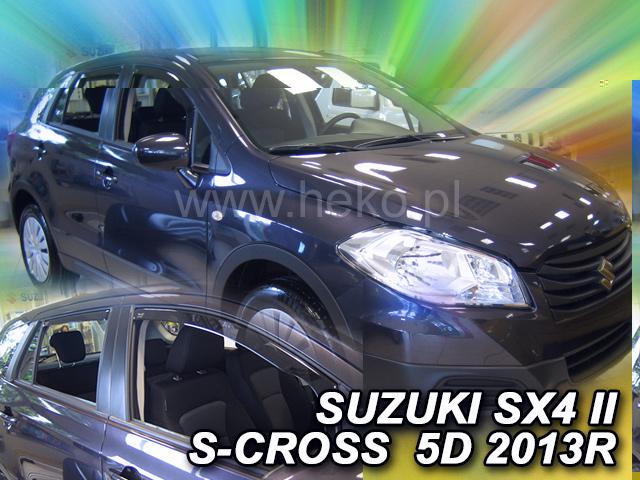 Ofuky oken Heko Suzuki SX4 S-Cross 2013 přední + zadní