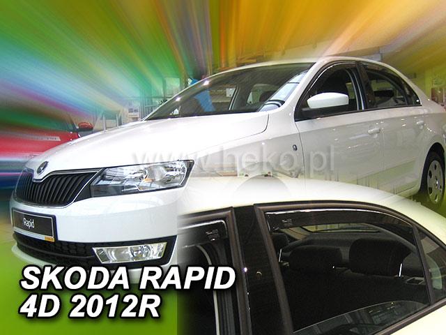 Ofuky oken Heko Škoda Rapid 2012- přední + zadní Liftback