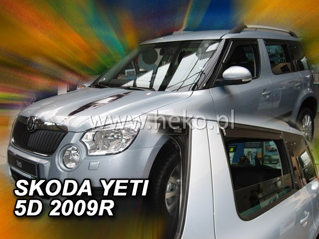 Ofuky oken Heko Škoda Yeti 5D 2009- přední + zadní