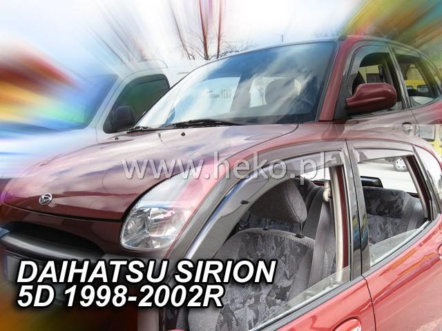 Ofuky oken Heko Daihatsu Sirion 5D 1998-2002 přední + zadní