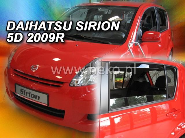 Ofuky oken Heko Daihatsu Sirion 5D 2005- přední + zadní