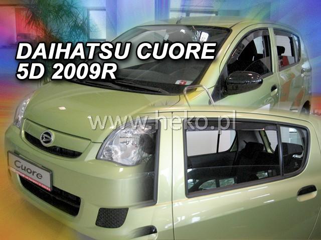 Ofuky oken Heko Daihatsu Cuore Vll 5D 2007- přední + zadní