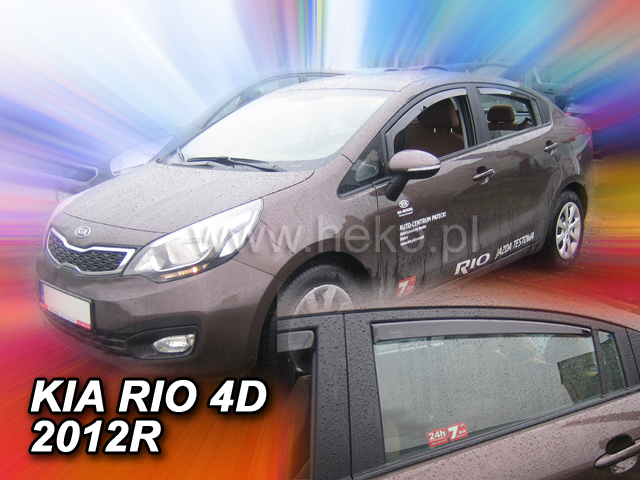 Ofuky oken Heko Kia Rio 4D 2012- přední + zadní sedan