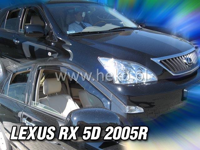 Ofuky oken Heko Lexus RX 4D 2005- přední + zadní