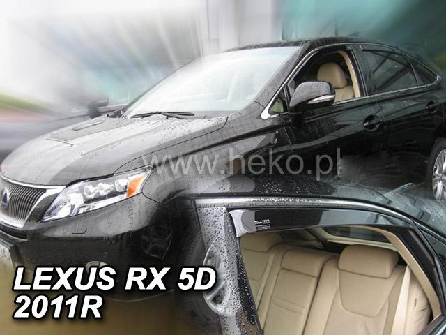 Ofuky oken Heko Lexus RX 5D 2010- AL10 přední + zadní