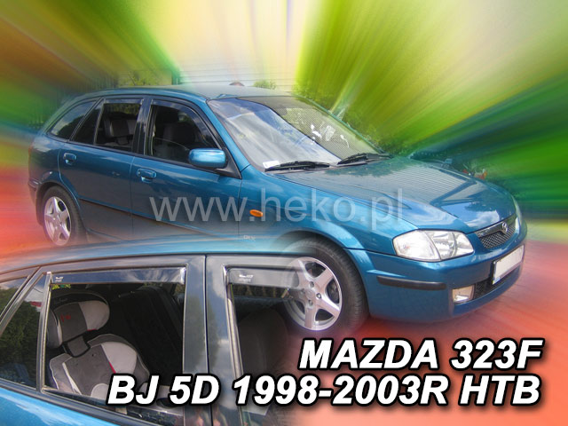 Ofuky oken Heko Mazda 323F BJ 5D 1998-2003 přední + zadní htb