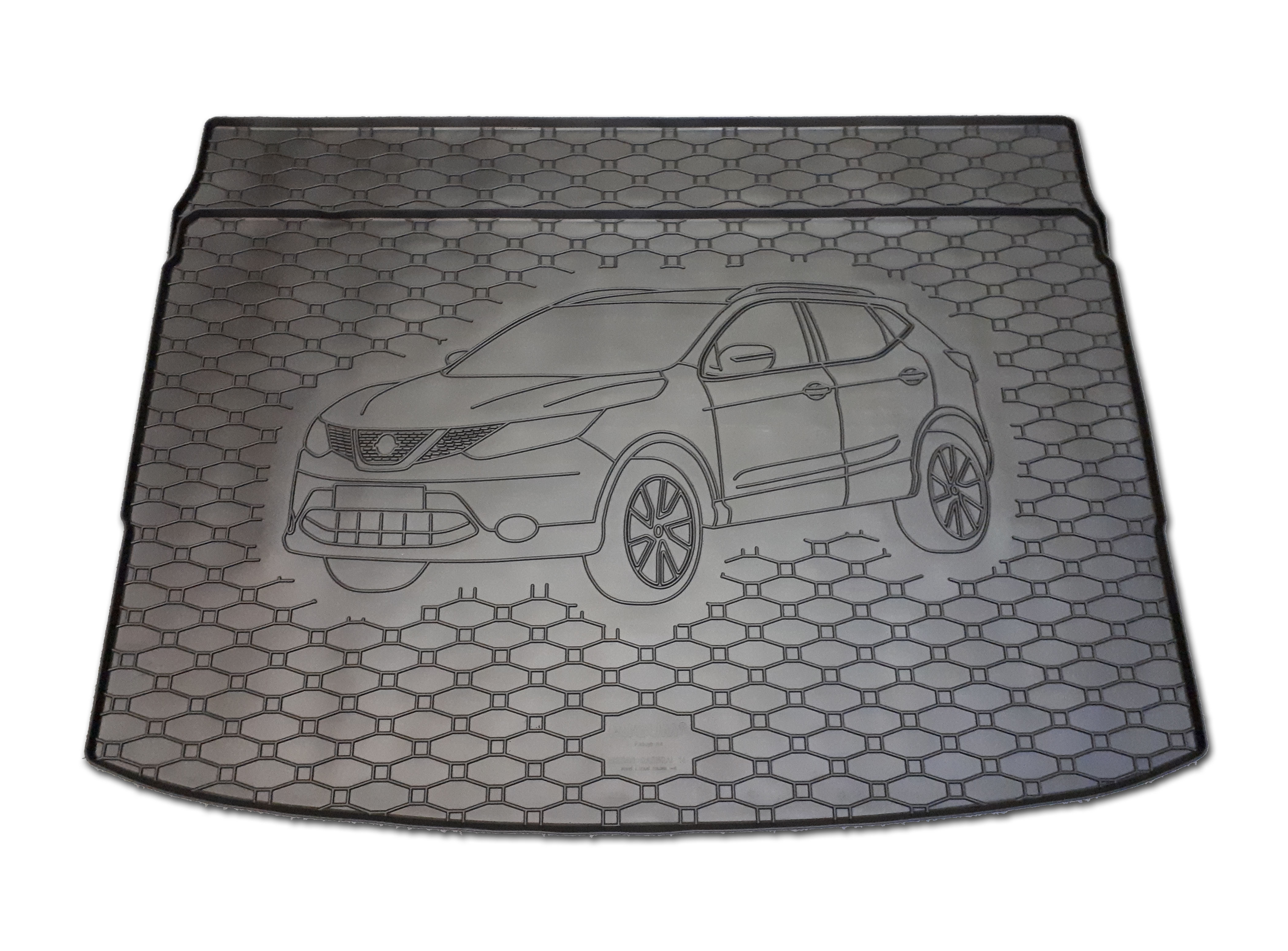 Vana do kufru gumová Nissan Qashqai 2014- horní i dolní poloha
