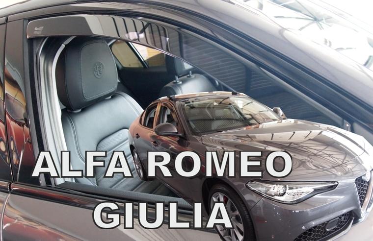 Ofuky oken Heko Alfa Romeo Giulia 5D 2016- přední