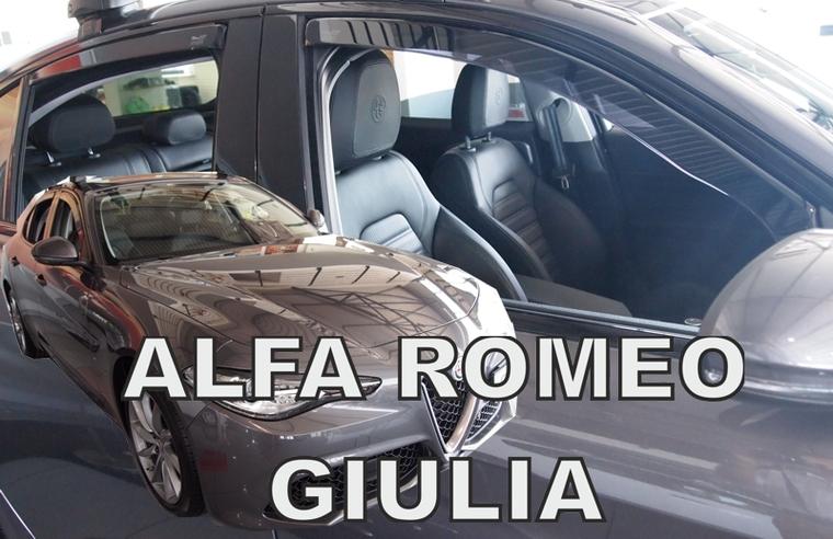 Ofuky oken Heko Alfa Romeo Giulia 5D 2016- přední + zadní