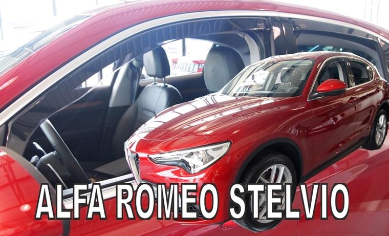Ofuky oken Heko Alfa Romeo Stelvio 5D 2017- přední + zadní