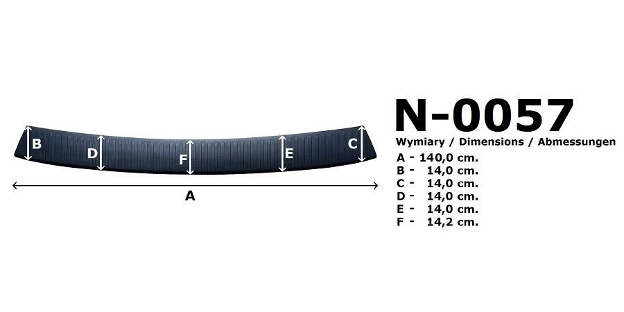 Kryt nákladové hrany Rider Citroen Jumpy III 2016- 140cm