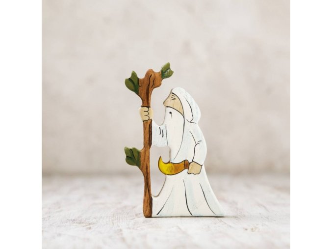wooden druid figurine
