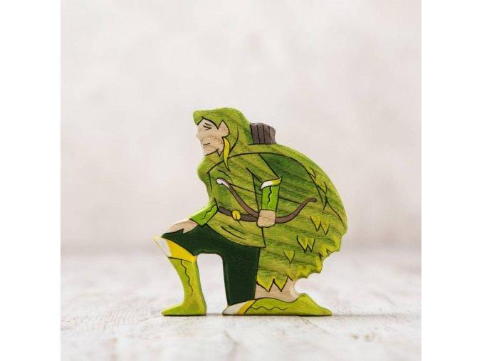 wooden elf figurine