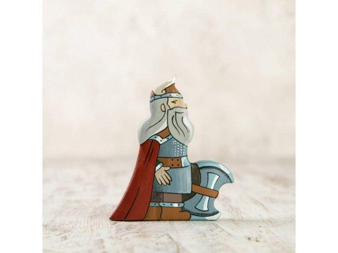 wooden dwarf figurine