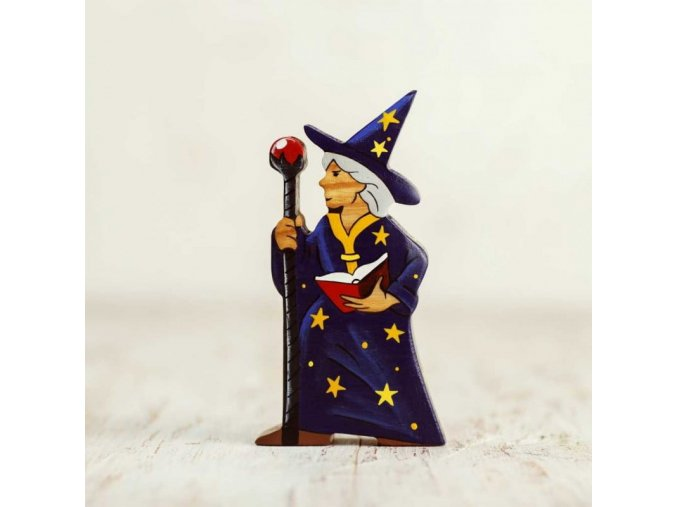 magician wooden figurine