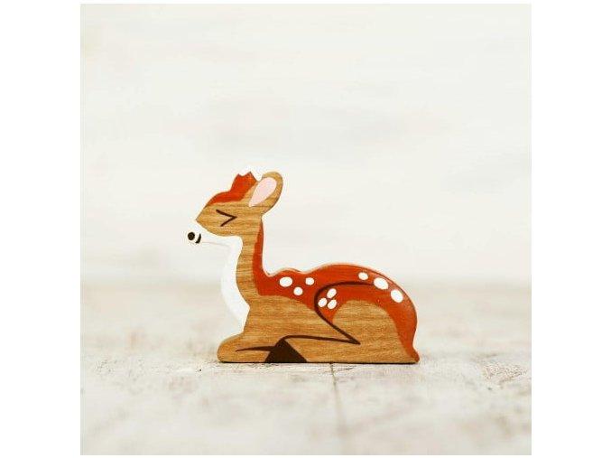 wooden toy deer figurine