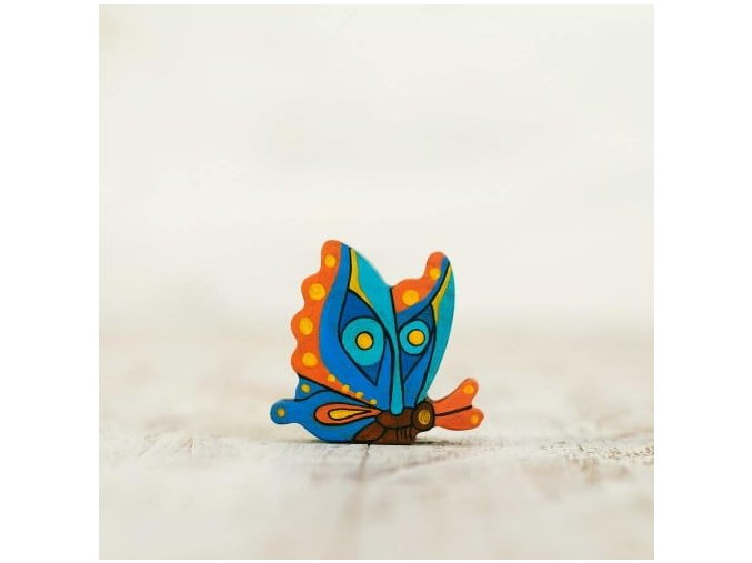 wooden toy butterfly figurine