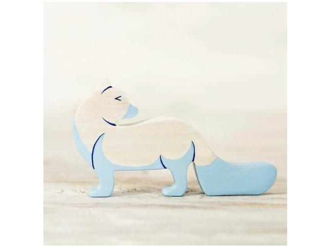 wooden arctic fox toy
