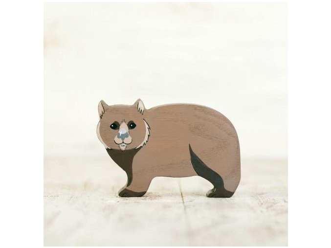 wooden toy wombat figurine