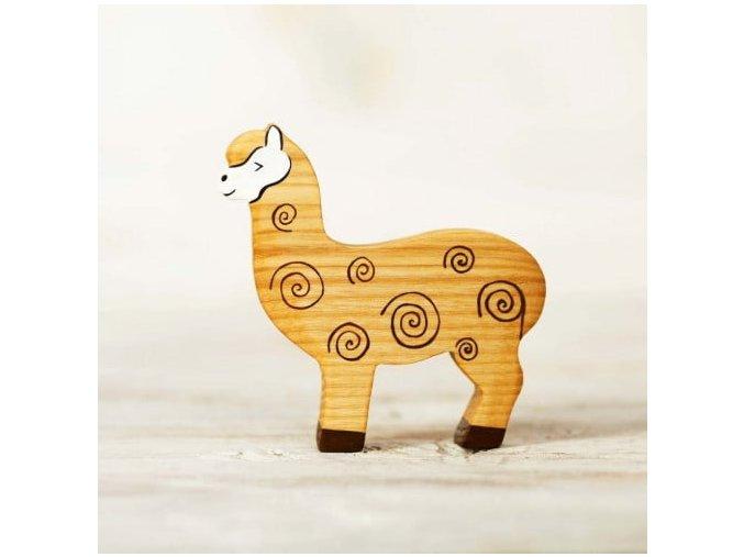 wooden alpaca toy