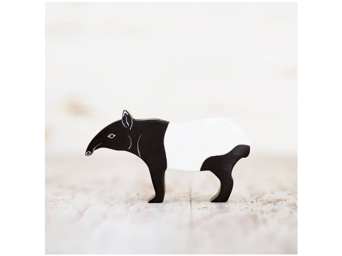 wooden toy tapir figurine