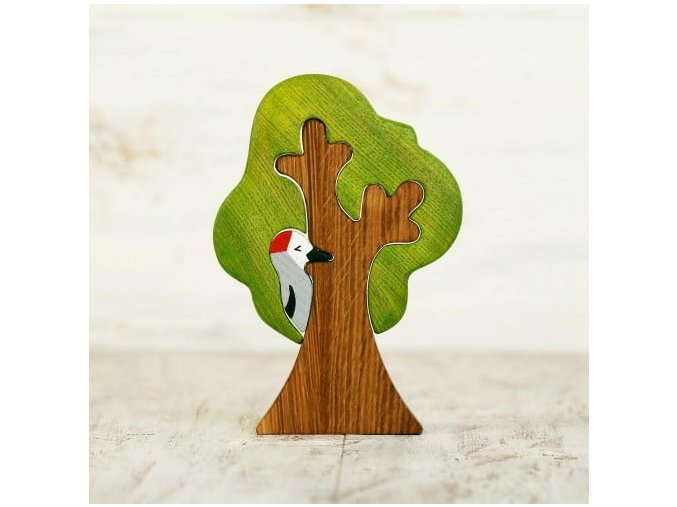 tree toy with woodpecker