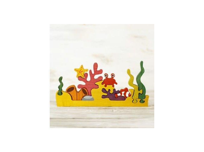 coral reef puzzle toy