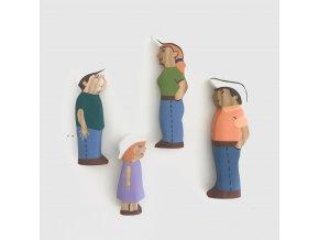 Dřevěné figurky - Rodina na farmě