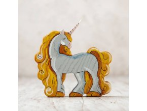 wooden unicorn figurine