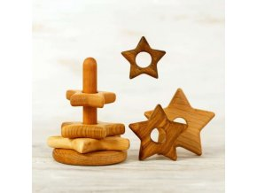 wooden stacking toy star