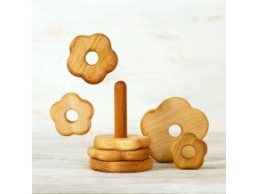 wooden stacking toy flower
