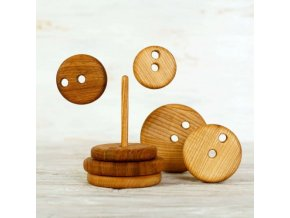 wooden stacking toy round montessori