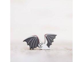 wooden toy bat figurine