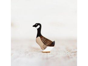 wooden toy canada goose figurine
