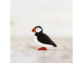wooden puffin toy