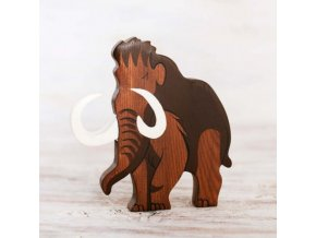 wooden mammoth toy