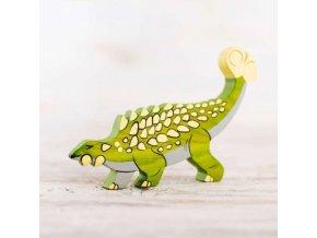 wooden ankylosaurus toy