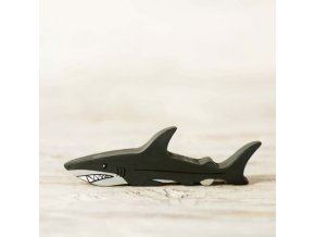 wooden toy shark figure