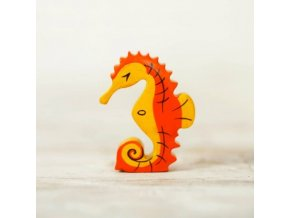 wooden toy seahorse figurine