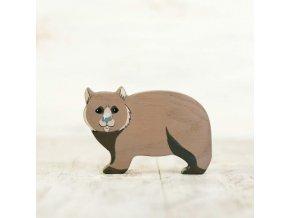 wooden toy wombat figurine