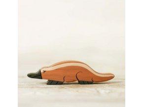 wooden toy platypus figurine