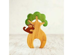 wooden tree with a monkey