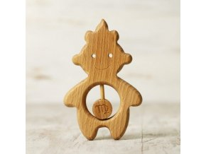 zodiac sign virgo baby rattle teether