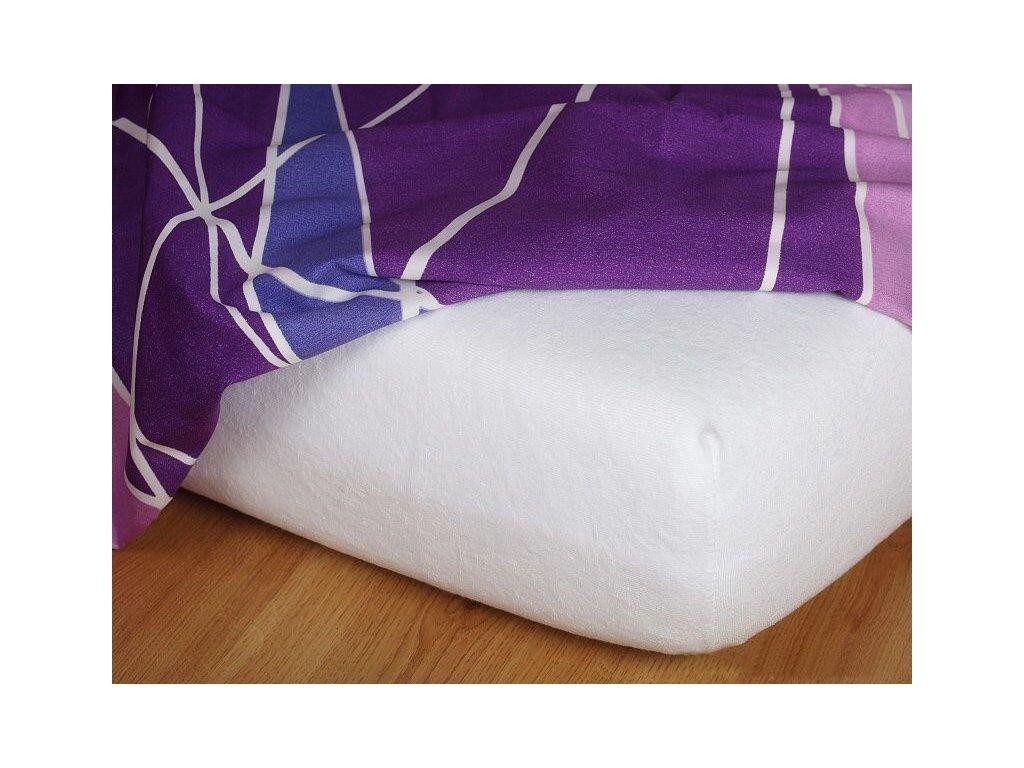 Froté prostěradlo bílé