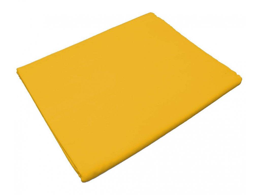 Bavlněné prostěradlo žluté