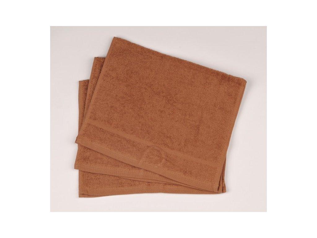 Ručník froté 30 x 50 cm - hnědý