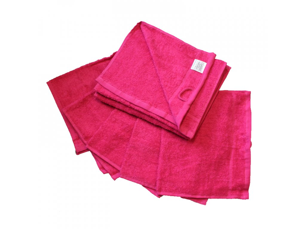 Ručník froté 30 x 50 cm - purpurový